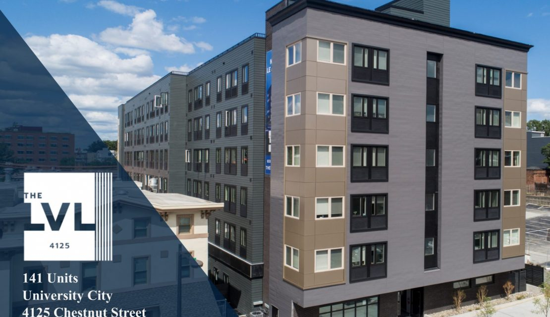 RRA SELLS NEWLY CONSTRUCTED 141 UNIT MODULAR APARTMENT BUILDING IN UNIVERSITY CITY, PHILADELPHIA FOR $36,000,000